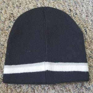 843bdebb174 Accessories - Boys Black Gray White Striped Skull Beanie Hat OS